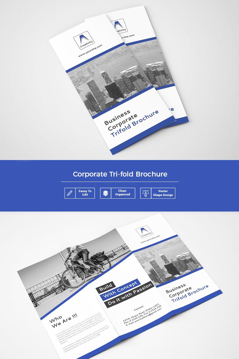 Flumpa Clean Trifold Brochure Corporate Identity Template