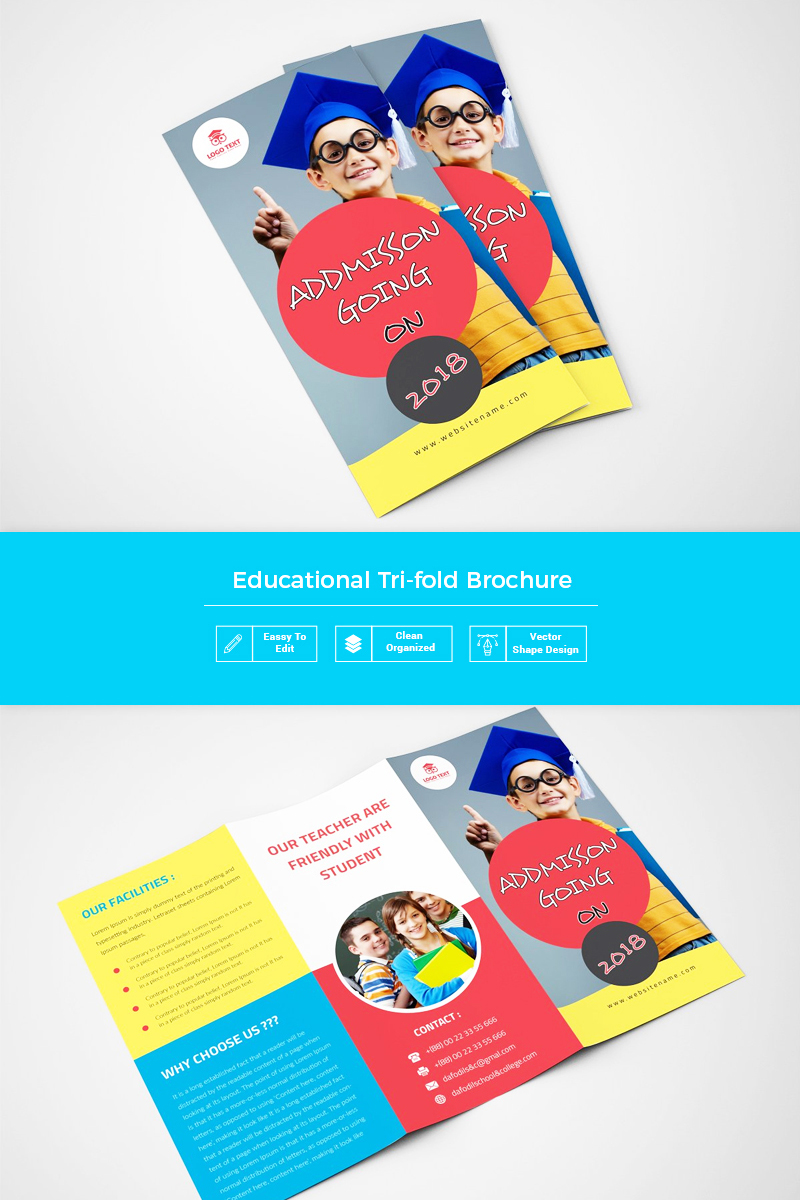 Gostini Back To School Trifold Corporate Identity Template