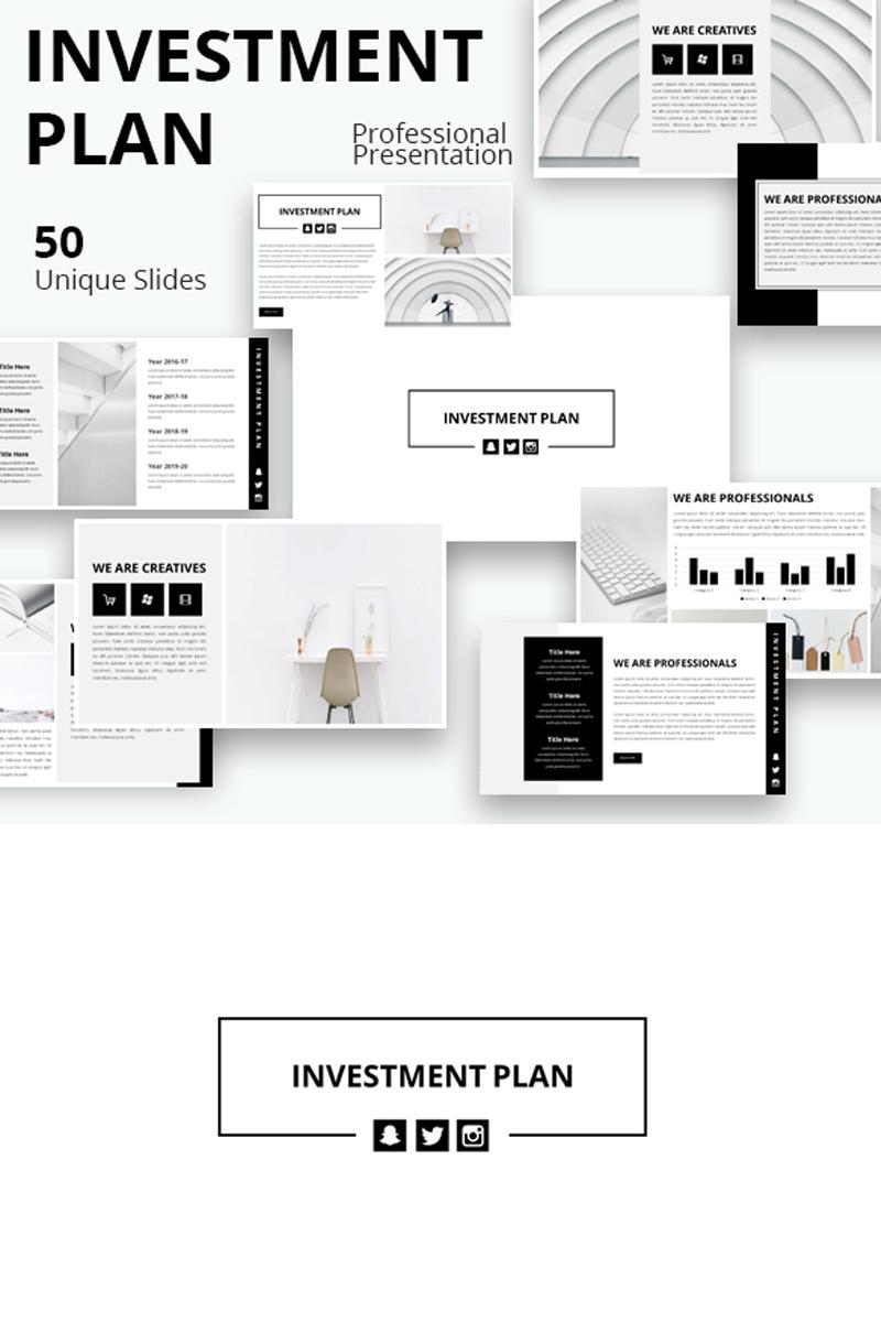 """""""Investment Plan"""" modèle Keynote  #86629"""