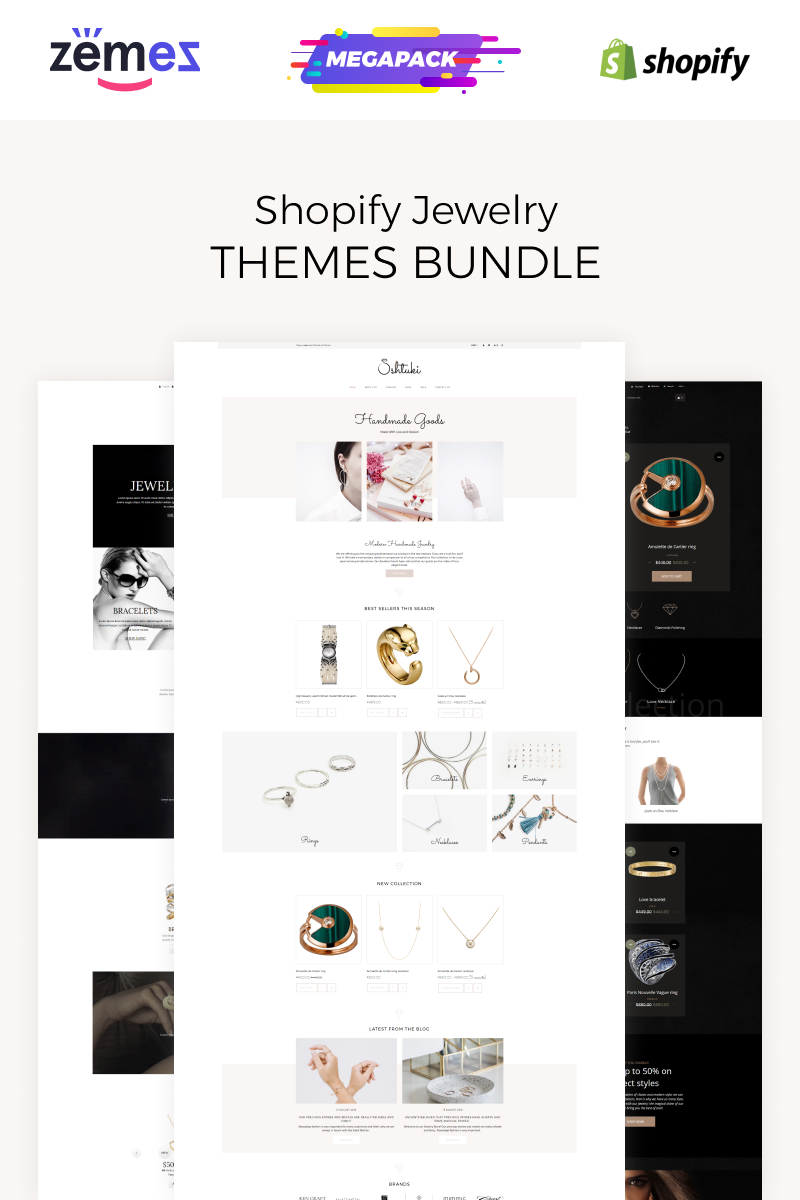 """""""Jewelry Bundle"""" thème Shopify  #86633"""