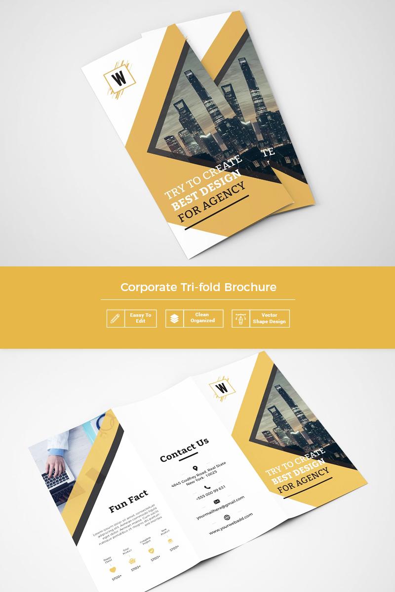 Karmie Clean Tri fold Brochure Corporate Identity Template
