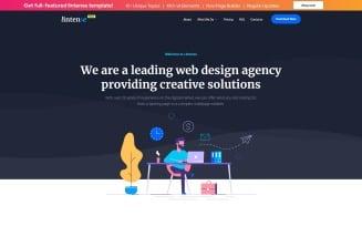 lintense - Free HTML Landing Page Template