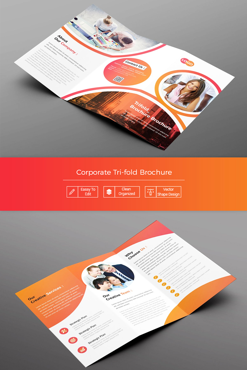 Madona Trifold Brochure Corporate Identity Template