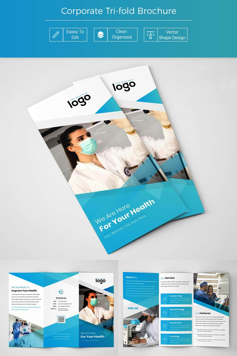 Nagli Medical Tri fold Brochure Corporate Identity Template