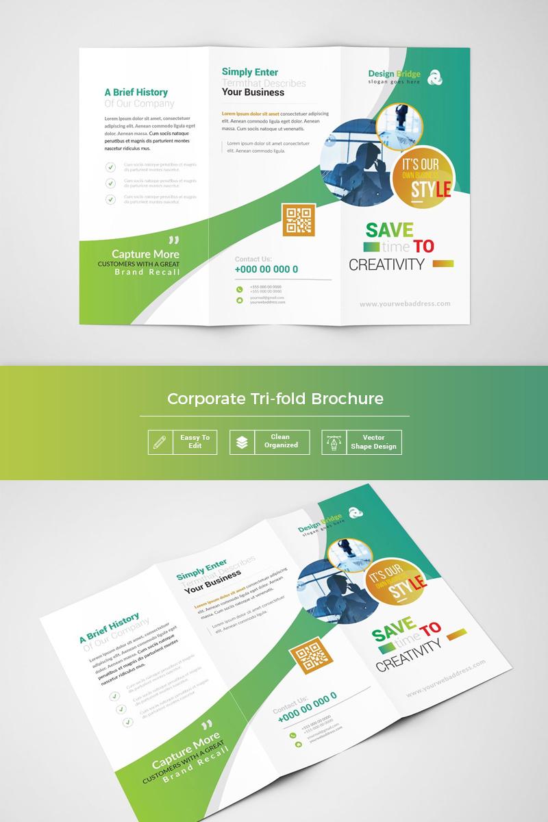 Nimba Simple Tri-fold Brochure Corporate Identity Template