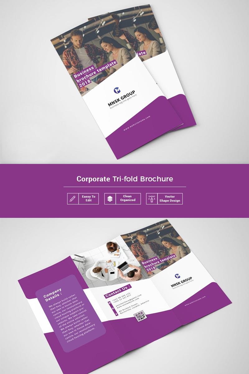 Rauna  Trifold Brochure Corporate Identity Template