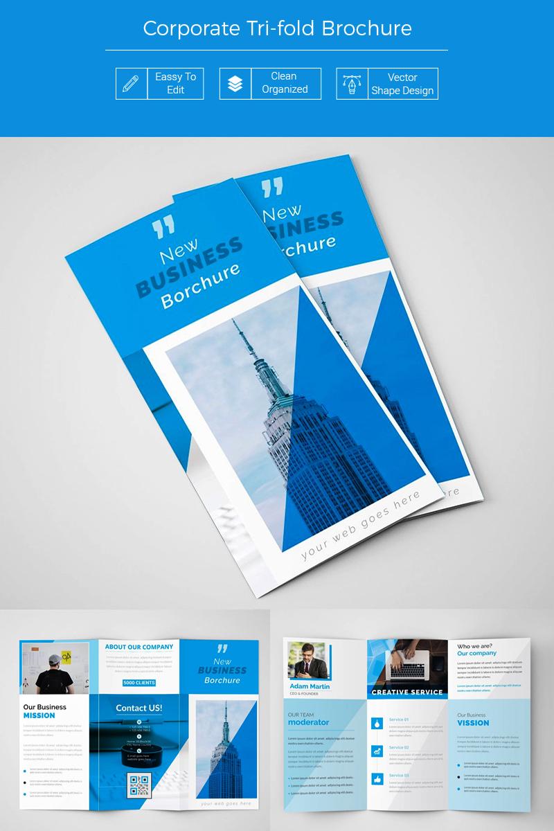 """Šablona firemního stylu """"Trupi Business Blue Trifold Brochure"""" #86683 - screenshot"""
