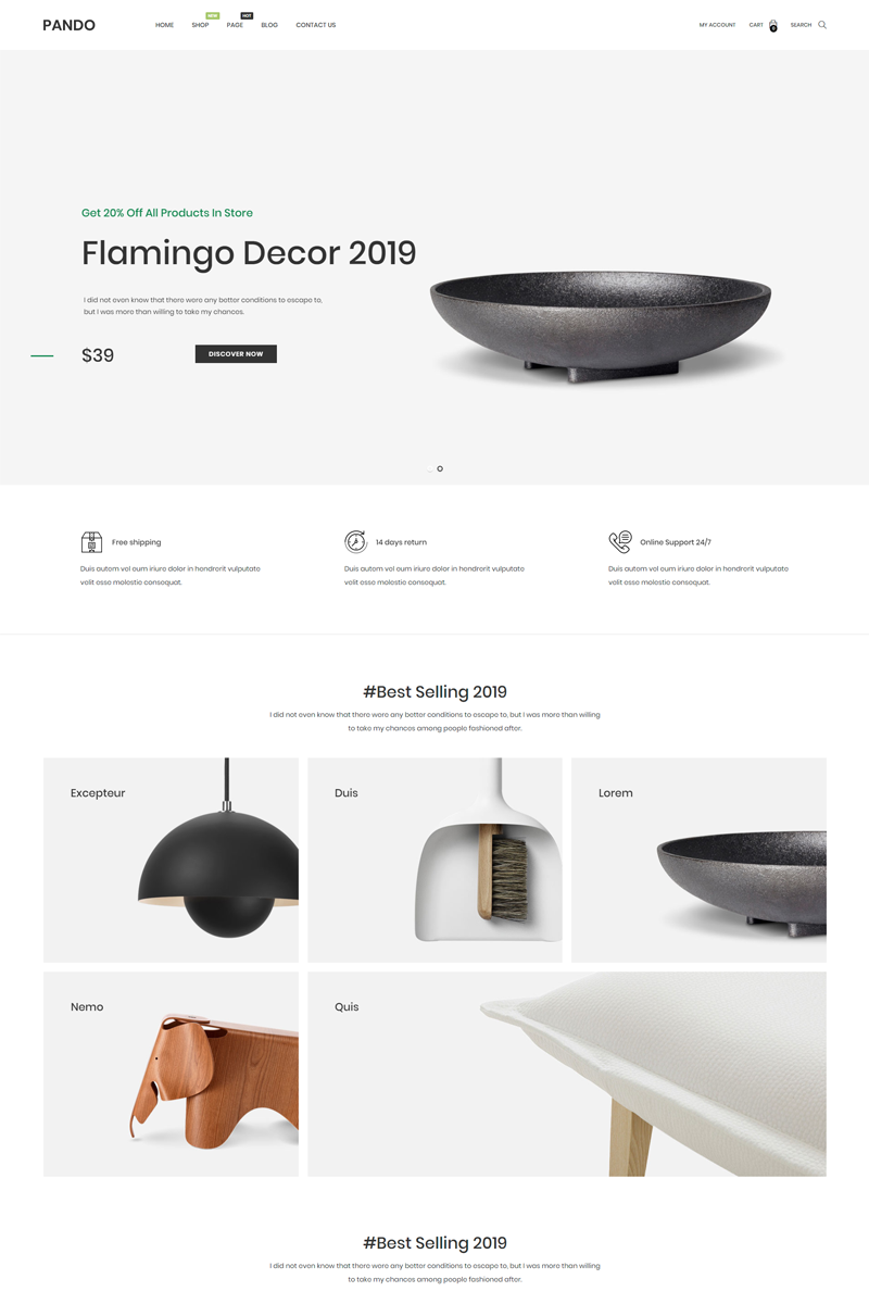 "Tema De PrestaShop ""Ap Pando Minimal Furniture"" #86632"