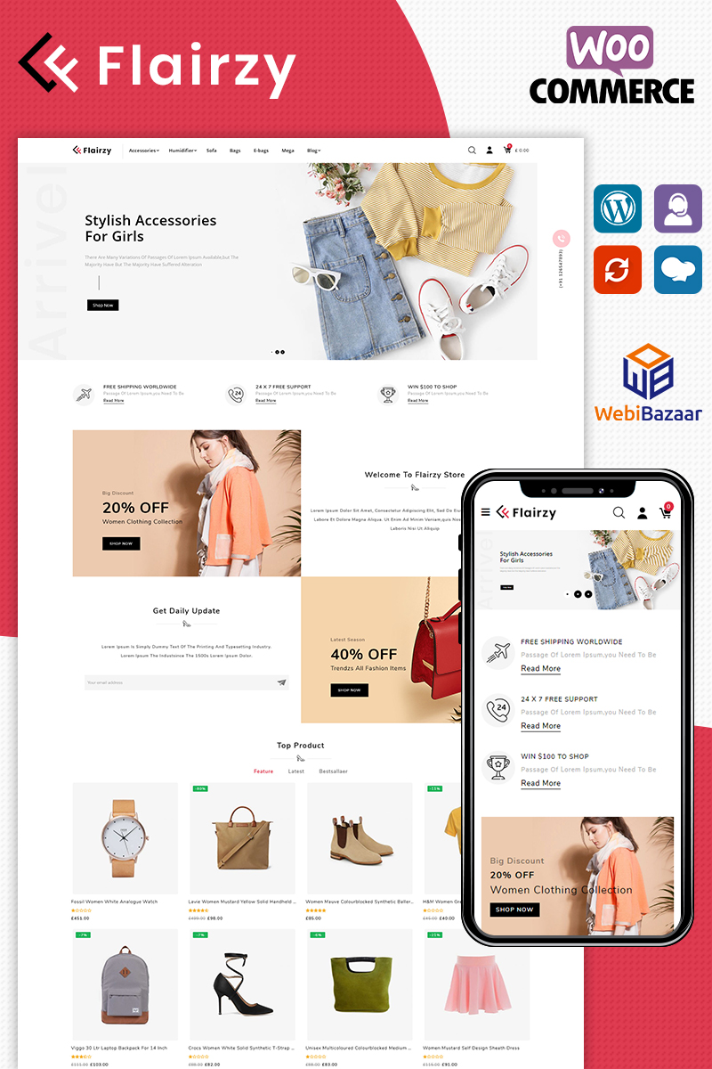 "Tema WooCommerce ""Flairzy"" #86619"
