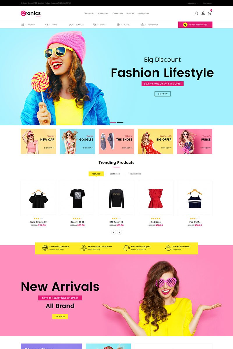 "Template OpenCart Responsive #86686 ""Cronics Fashion Responsive"""