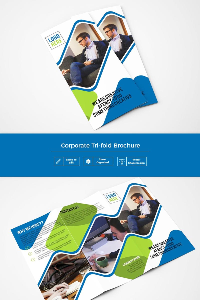 Yopie Business Trifold Brochure Corporate Identity Template