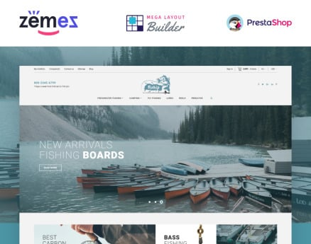 Fiship - Fishing Store Template PrestaShop Theme