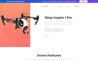 Drone - Free Clean HTML Landing Page Template