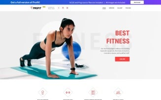 PROFIT - Fitness Free Modern HTML Landing Page Template