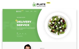 Plate - Free Food and Drink Modern HTML Landing Page Template