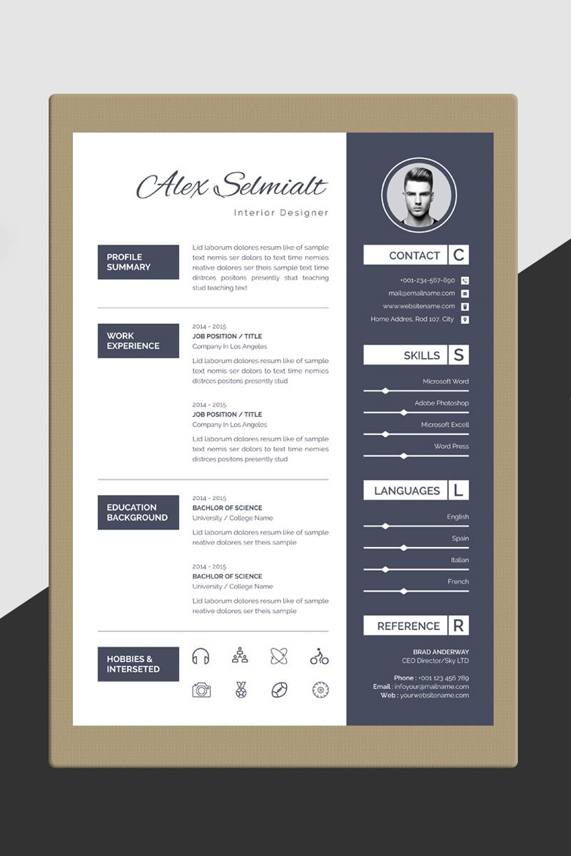 Alex Selmialt Word Resume Template