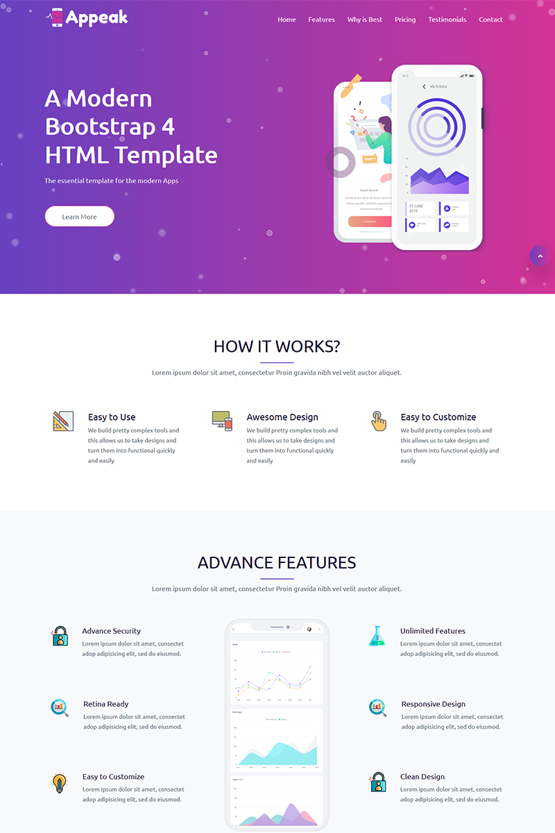 Appeak - Landing Page Template