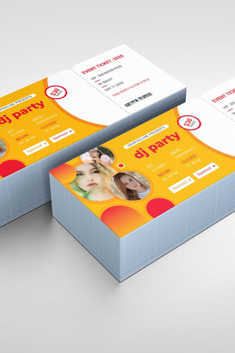 Event Party Ticket Corporate Identity Template