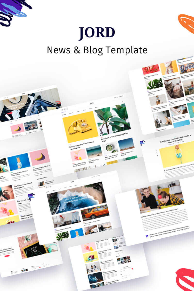Jord - Blog Template Web №86775 - captura de tela