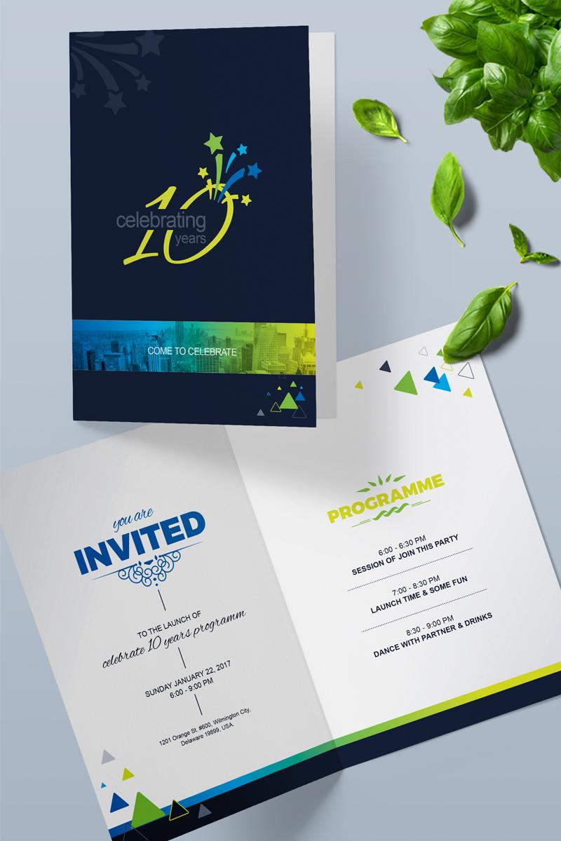 Premium Anniversary Celebration Invitation Card Design Psd #86777