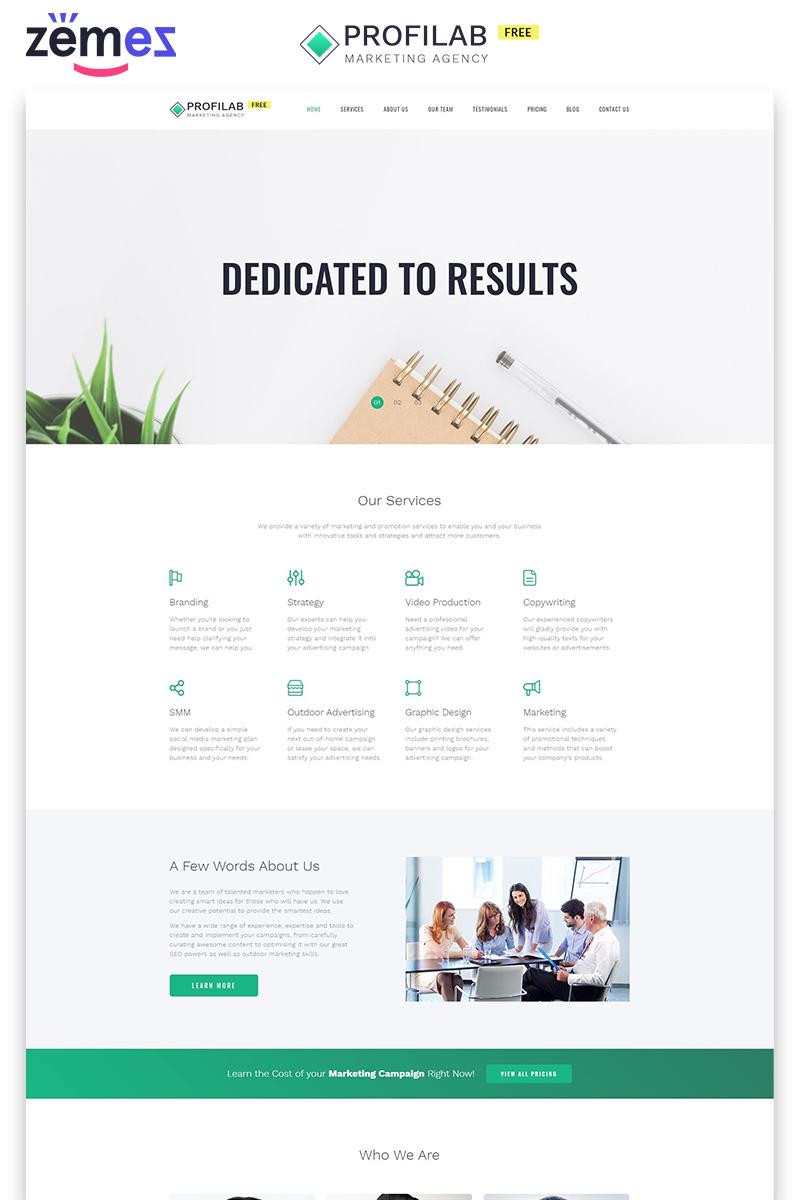 Profilab - Marketing Agency Free HTML №86746