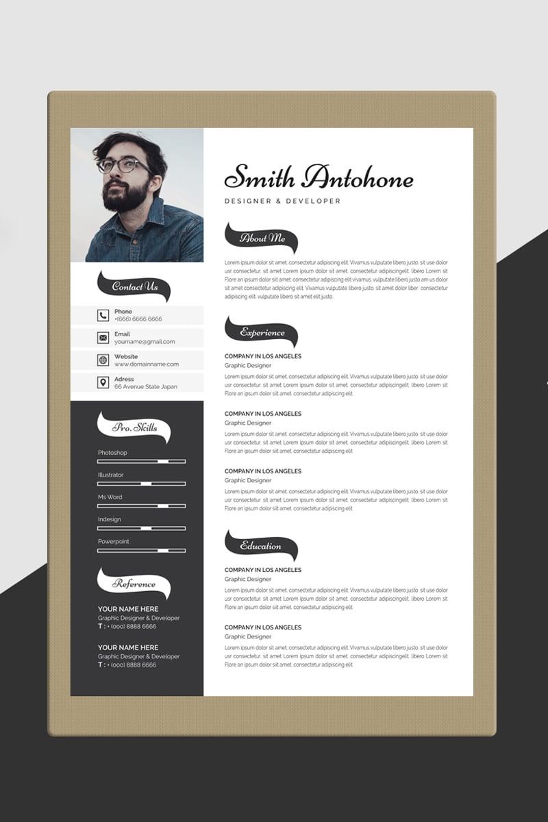 Smith Antohone Word Resume Template