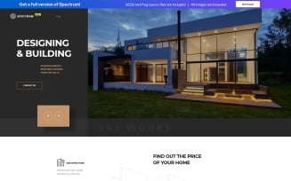 Spectrum - Construction Company Free HTML Landing Page Template