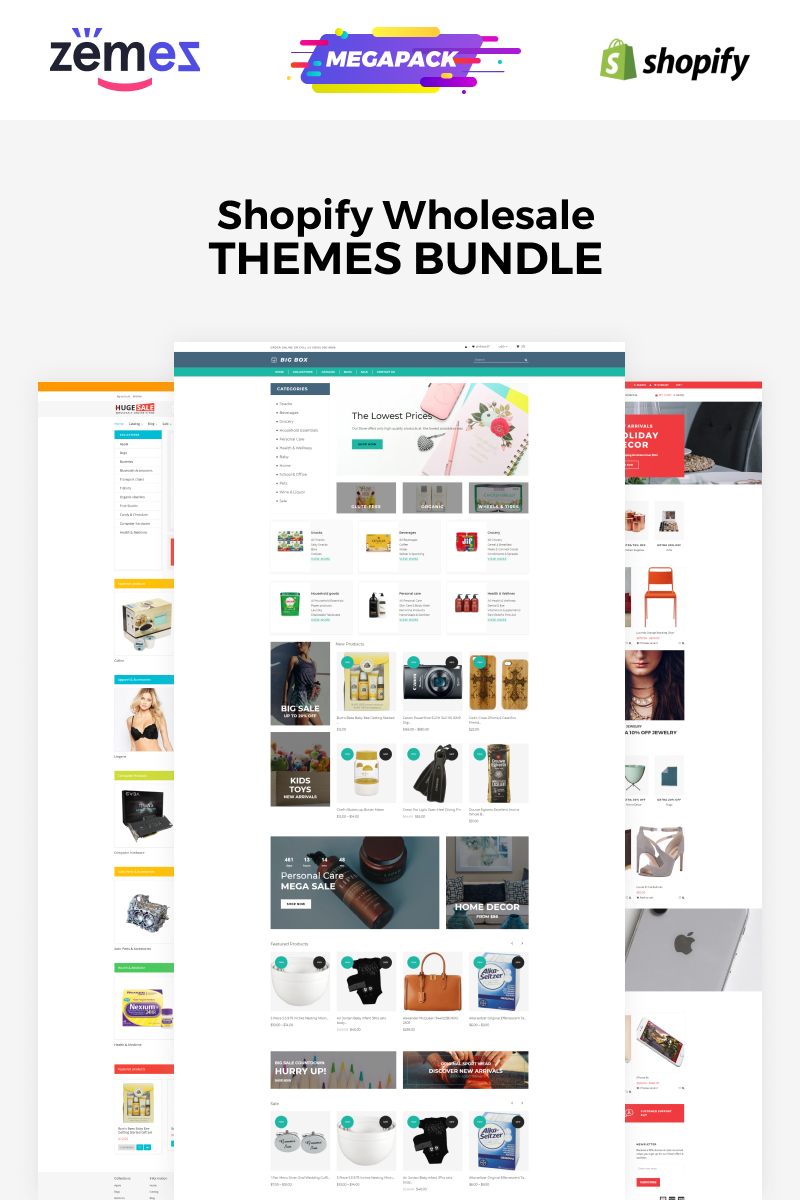 "Tema Shopify ""Wholesale Store Bundle"" #86745 - captura de pantalla"