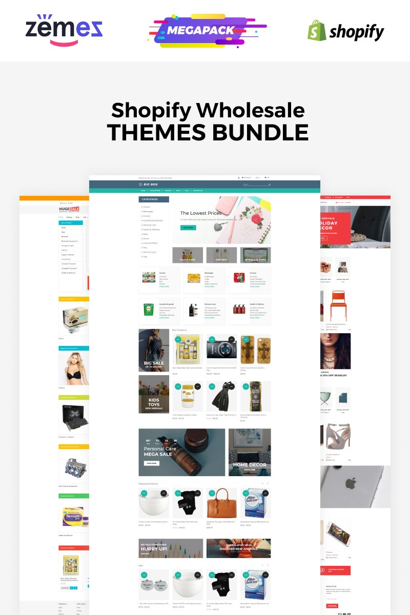 """Wholesale Store Bundle"" - Shopify шаблон №86745"