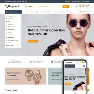 Купить  пофессиональные WooCommerce шаблоны. Купить шаблон #86894 и создать сайт.