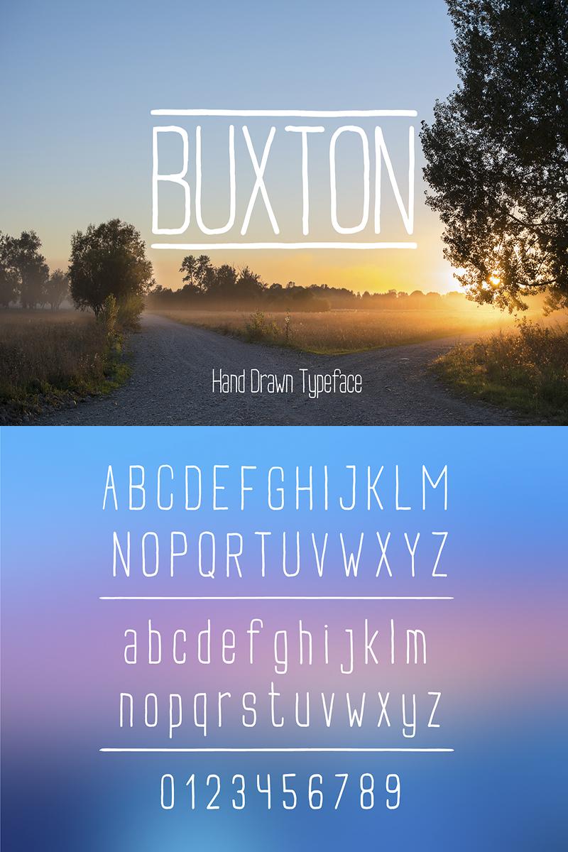 """""""Buxton"""" police de caractère  #86886 - screenshot"""