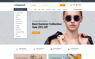 Buyment - Multipurpose WooCommerce Theme