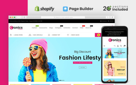 Cronics Multipurpose Store Shopify Theme