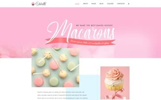 Dolcetti - Bakery Multipage Modern Joomla Template