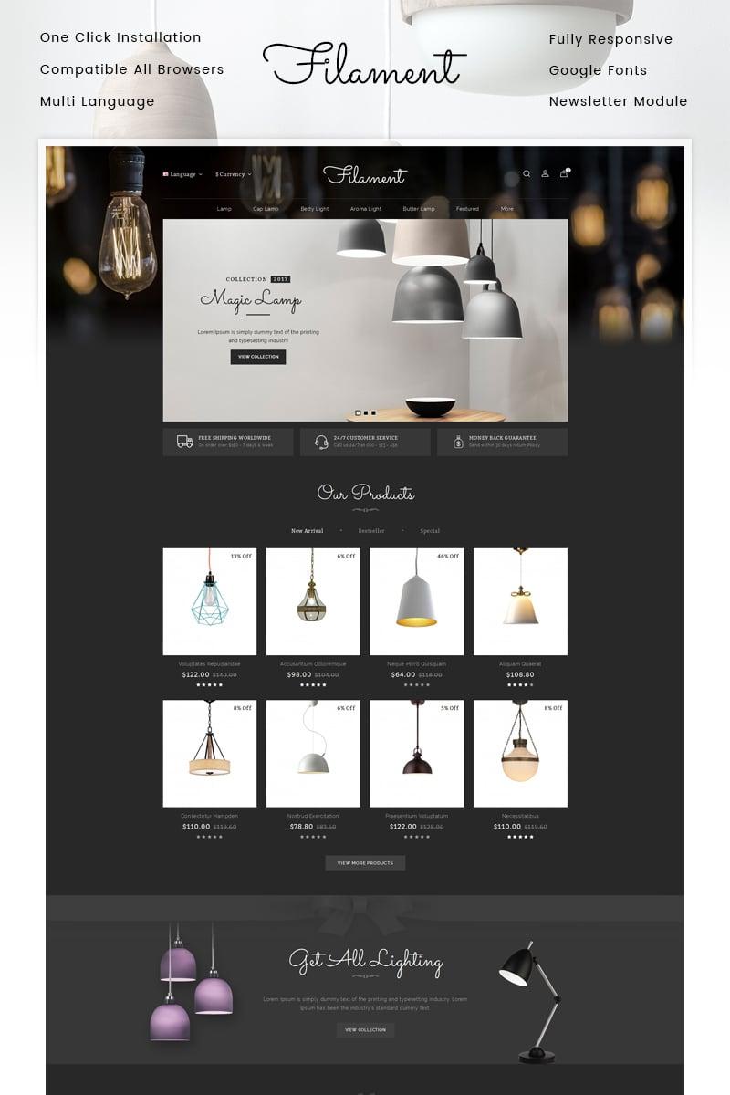 """Filament Lighting Store"" - адаптивний OpenCart шаблон №86808"