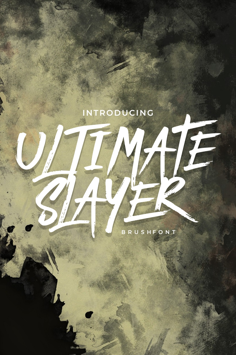 "Font ""ULTIMATE SLAYER - Handbrush"" #86863 - screenshot"