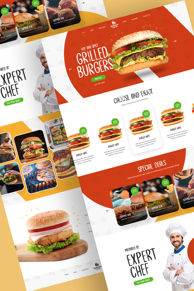 Food Industry - Food & Restaurant PSD Template