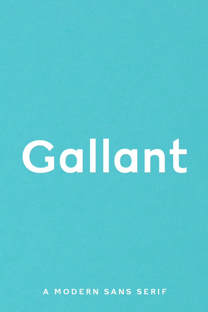 Gallant - A Geometric Typeface Font - screenshot