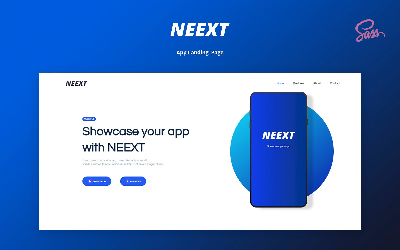 NEEXT - App Responsive Landing Page Template