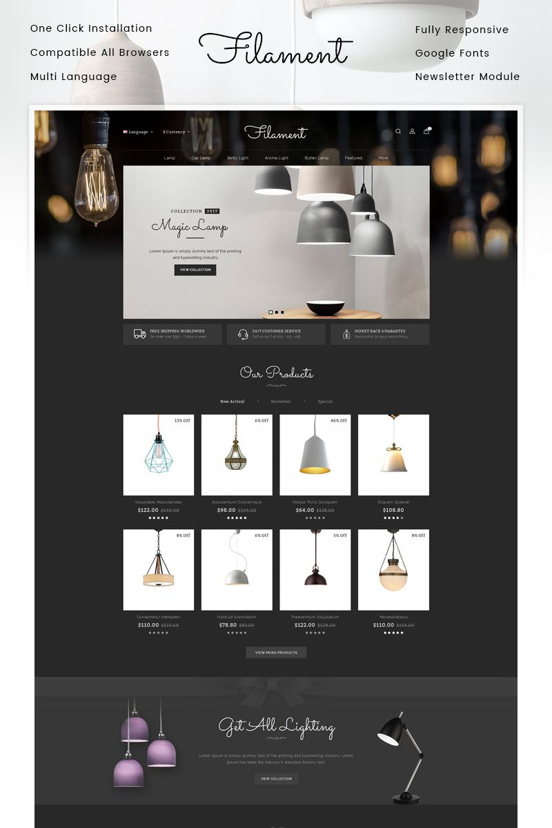 "OpenCart Vorlage namens ""Filament Lighting Store"" #86808"