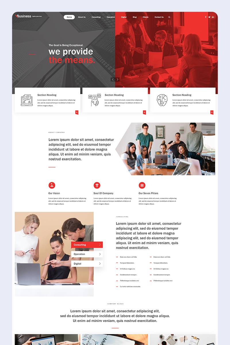 "Plantilla PSD ""Corporate Business - Creative Parallax PSD Design"" #86881"