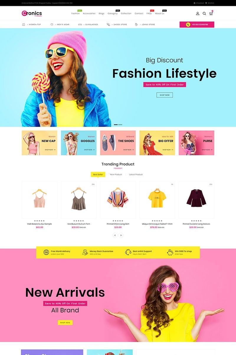 Responsive Cronics Fashion Responsive Shopify #86809