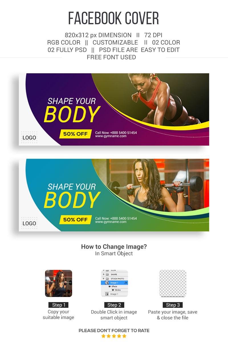 """Sociální sítě """"Gym Facebook Cover"""" #86862"""