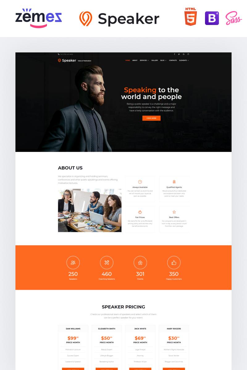 """Speaker - Event Planner Multipage Creative HTML"" modèle web adaptatif #86898"