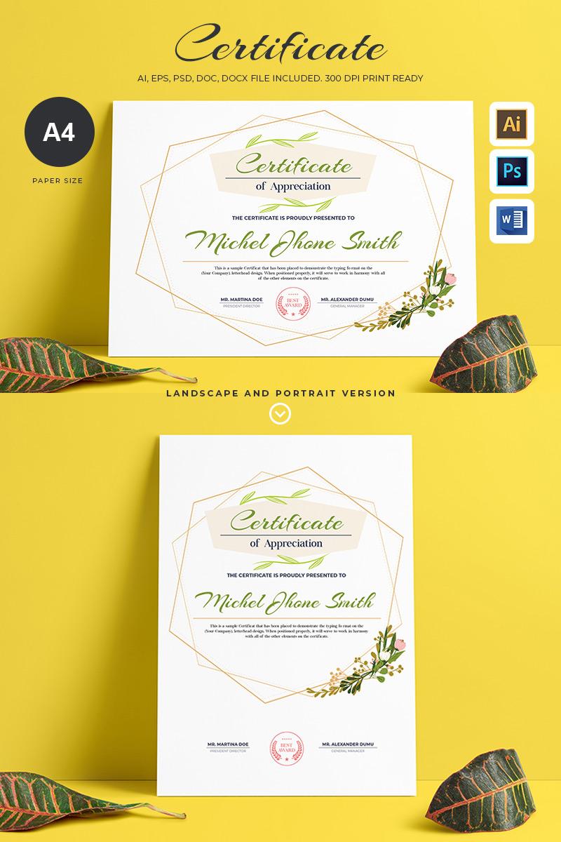 Szablon certyfikatu Creative & Elegant #86889