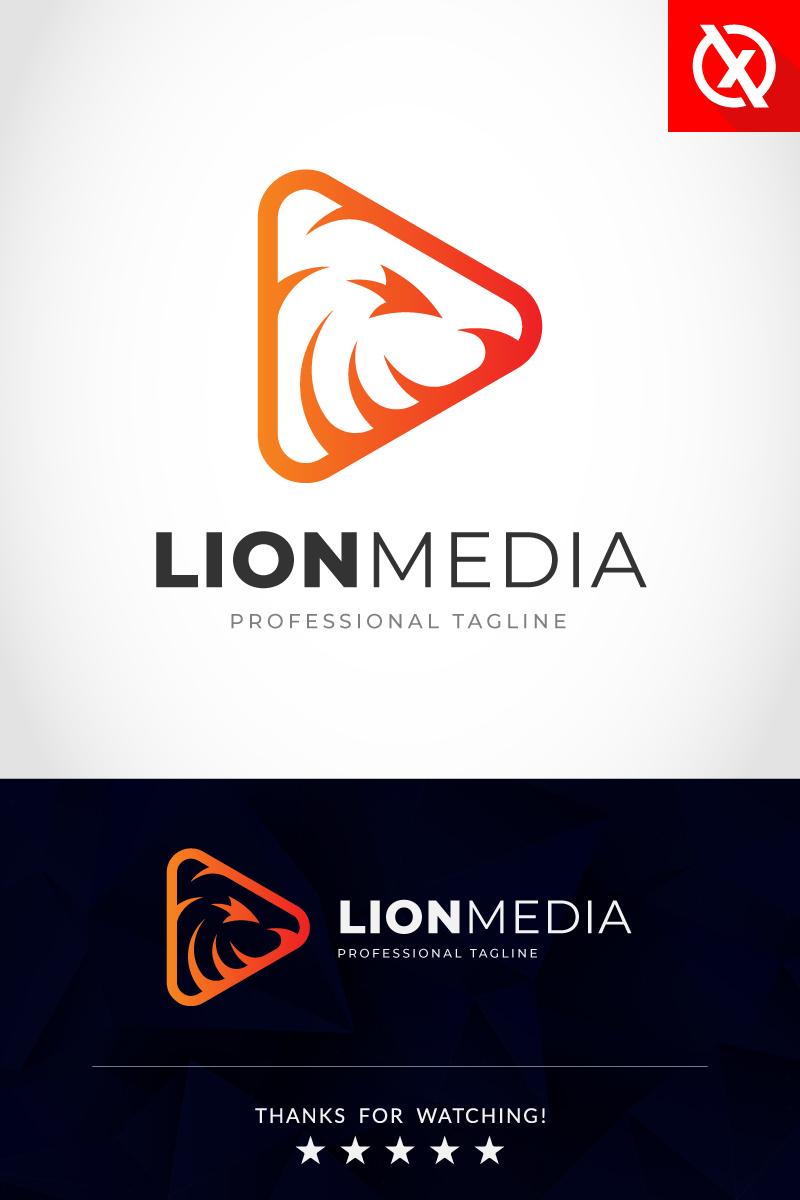 Szablon Logo Lion Media Studio #86880