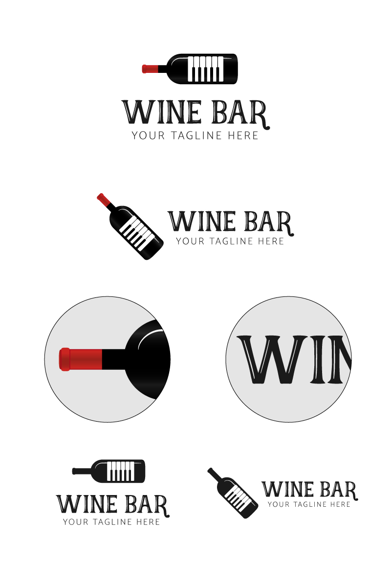 Wine Bar Logo Template