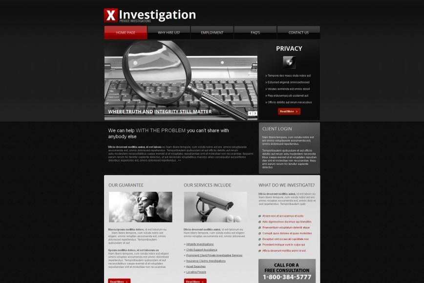 private investigation services website template motocms. Black Bedroom Furniture Sets. Home Design Ideas