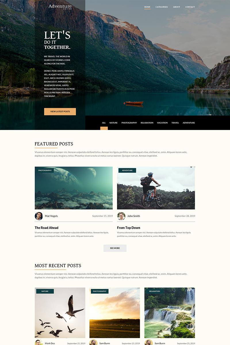 Adventure - Travel blog PSD Template