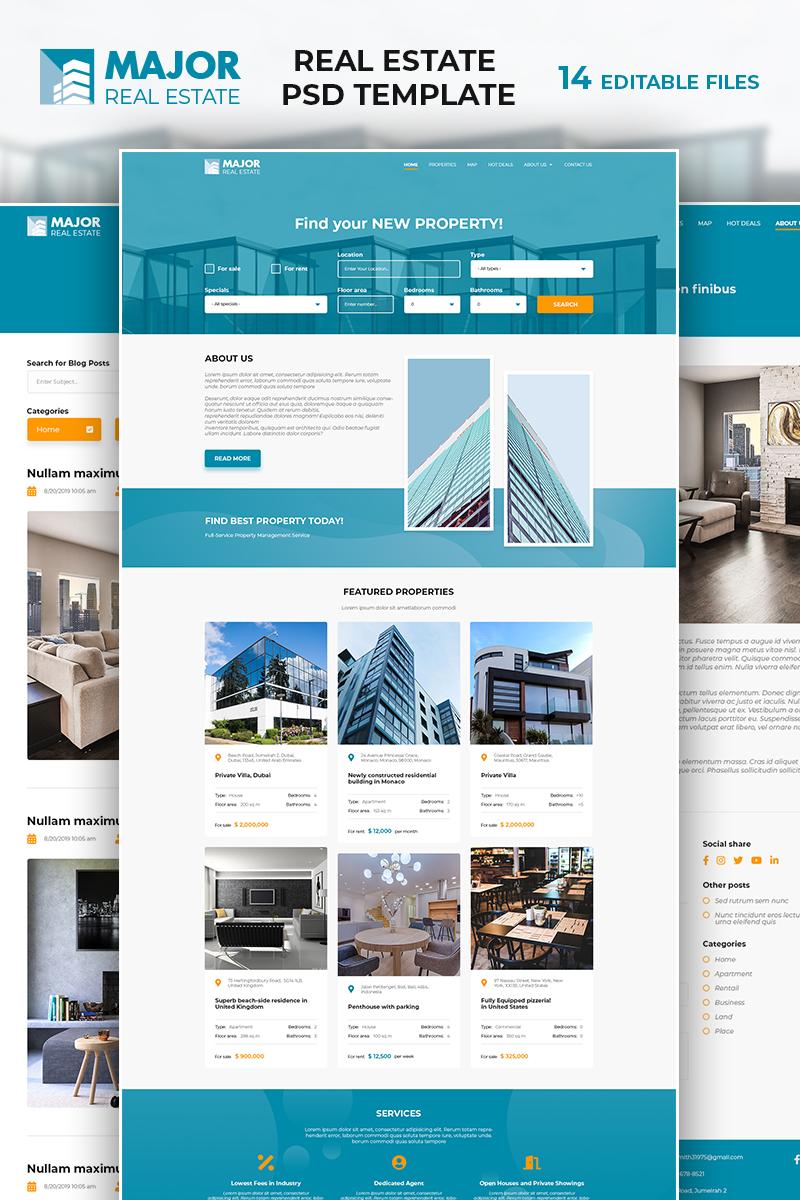 Bootstrap Major - Real Estate Psd #86965